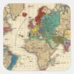 Imperio del ANUNCIO 1811 de Napoleon Bonaparte Pegatina Cuadrada