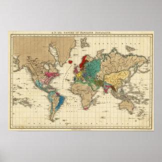 Imperio del ANUNCIO 1811 de Napoleon Bonaparte Póster