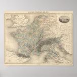 Imperio francés en 1811 póster