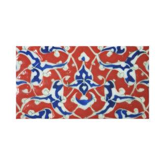Imperio otomano turco rojo, blanco, azul de la tej impresión en lienzo