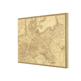 Imperio prusiano 2 lona envuelta para galerias
