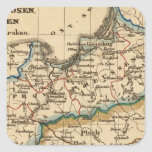 Imperio prusiano pegatina cuadrada