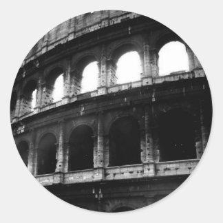 Imperio romano blanco negro de Colosseum Pegatina Redonda