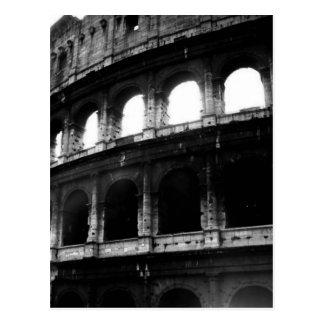 Imperio romano blanco negro de Colosseum Postal