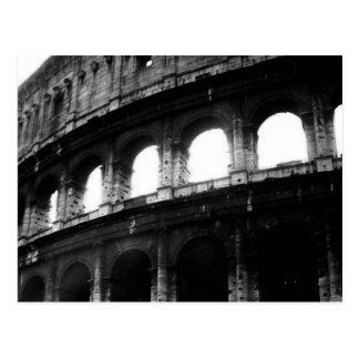 Imperio romano blanco negro de Colosseum Tarjeta Postal