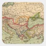 Imperio romano calcomanías cuadradass