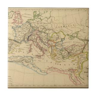 Imperio romano debajo de Constantina y de Trajan Azulejo Cuadrado Pequeño