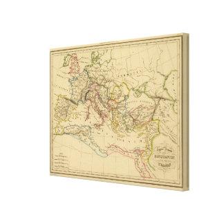 Imperio romano debajo de Constantina y de Trajan Lona Envuelta Para Galerias