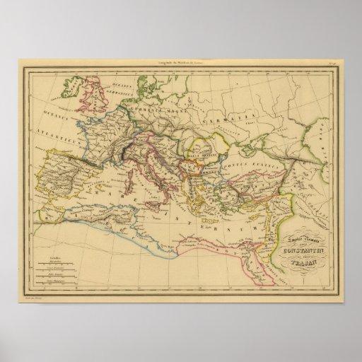 Imperio romano debajo de Constantina y de Trajan Poster