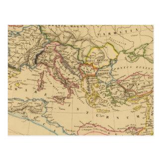 Imperio romano debajo de Constantina y de Trajan Postal