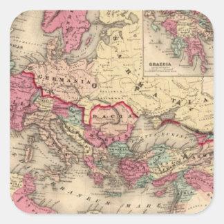 Imperio romano pegatina cuadrada