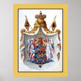 Imperio ruso escudo de armas lleno poster