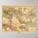 Imperios antiguos de los persas, macedonios del mu poster