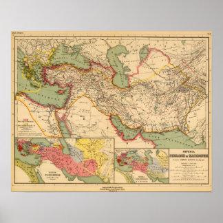 Imperios antiguos de los persas, macedonios del mu póster