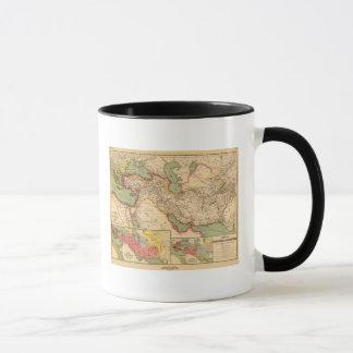 Imperios antiguos de los persas, macedonios del taza