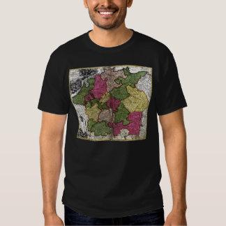 Imperium Romano-Germanicum Map by Johann Homann T Shirt