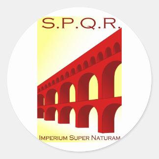 Imperium super naturam classic round sticker