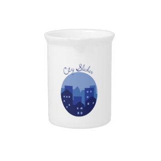 Impermeable de la ciudad jarra