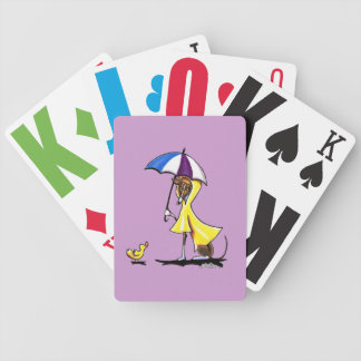 Impermeable del galgo italiano cartas de juego