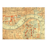 Impermeables de ciudad - mapa Londres el río Támes Tarjeta Postal