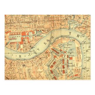 Impermeables de ciudad - mapa Londres el río Postal