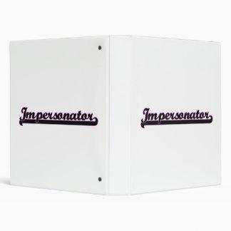 Impersonator Classic Job Design Vinyl Binder