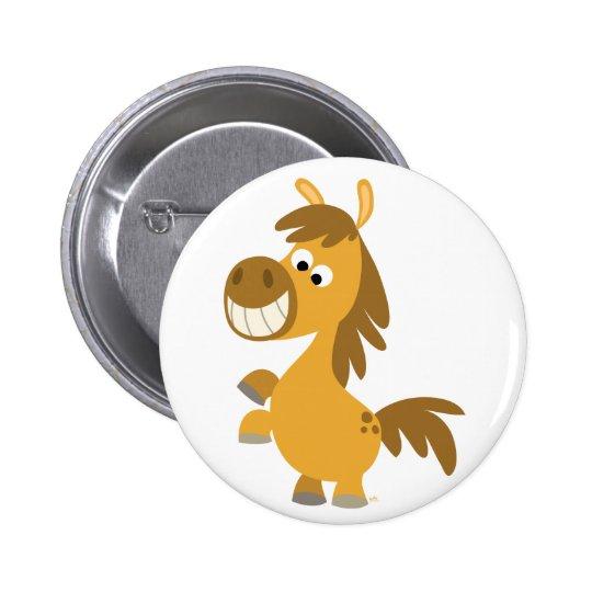 Impetuous Cartoon Pony Button Badge