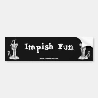 Impish Fun Bumper Sticker