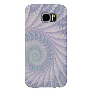 Impish Purple and Blue Abstract Spiral Samsung Galaxy S6 Case