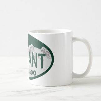 Implant license oval coffee mug