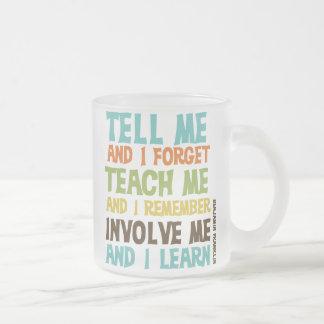 Impliqúeme cita inspirada tazas