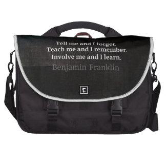 Impliqúeme me enseñan a cita inspirada bolsas para portátil
