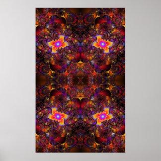 Implosión del fractal póster