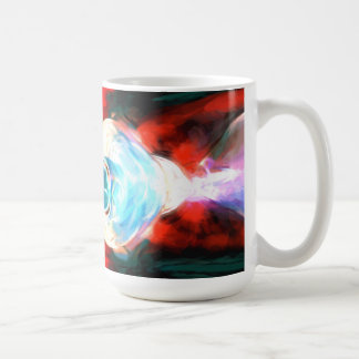 Implosion Painted Abstract Classic White Coffee Mug
