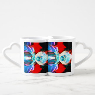 Implosion Painted Abstract Couples' Coffee Mug Set