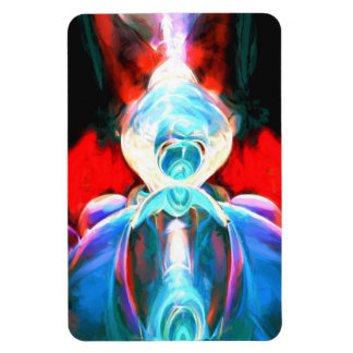 Implosion Painted Abstract Magnet