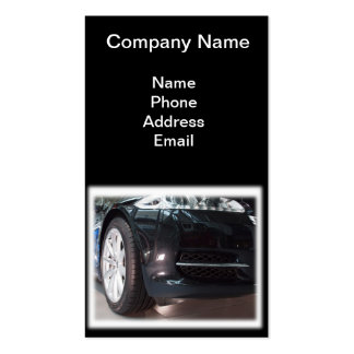 Import and Service of Luxury Cars Business Card Template