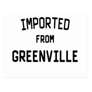 Importado de Greenville Tarjetas Postales