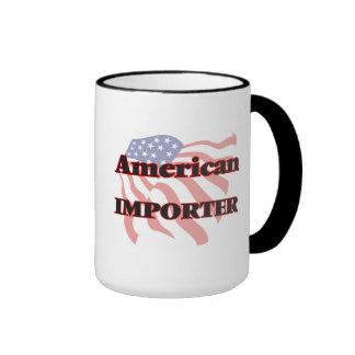 Importador americano taza a dos colores