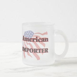 Importador americano taza cristal mate