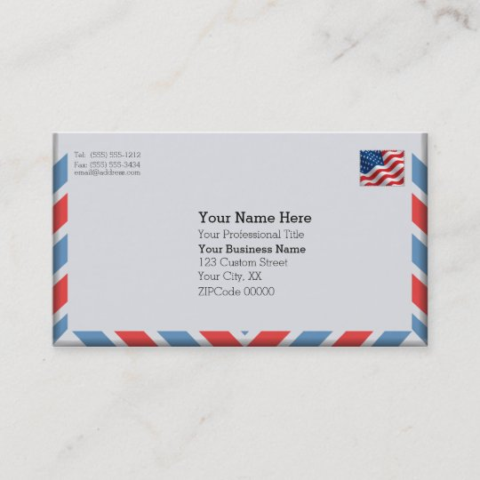 Important air mail envelope business card zazzle important air mail envelope business card colourmoves