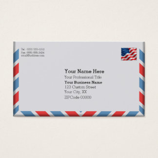 Important Air Mail Envelope Business Card