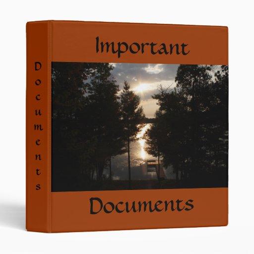 Important Documents Binder