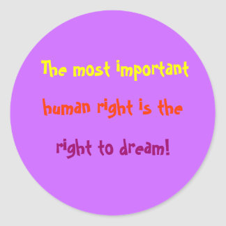 Important Human Rights Classic Round Sticker