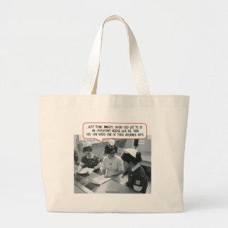 Important Nurse - Adorable Hat Large Tote Bag