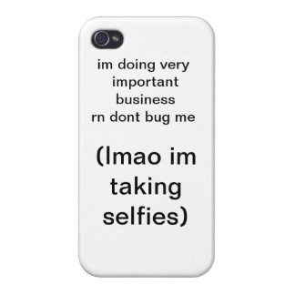 Important Phone Business iPhone 4 Case