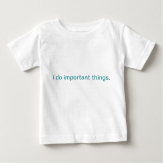 important things kids t-shirt