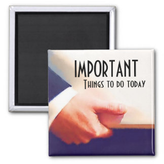 Important things to do Reminder Agenda Magnet