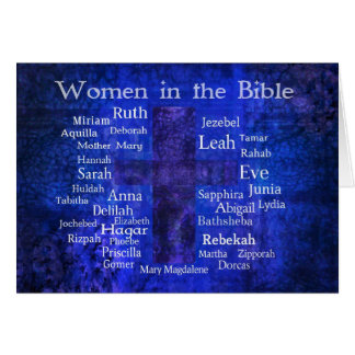 Important Women in the Bible list BLUE Card