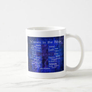 Important Women in the Bible list BLUE Classic White Coffee Mug